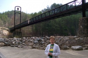 Vickie at Olympics Bridge Over Ocoee River